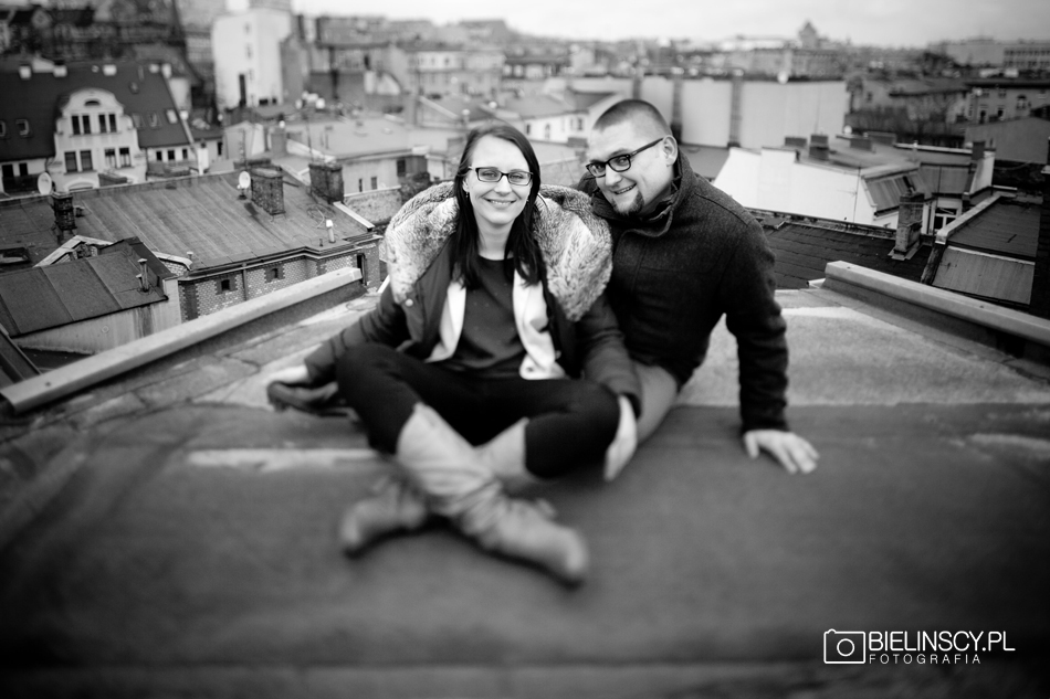 Engagement photoshoot rooftop