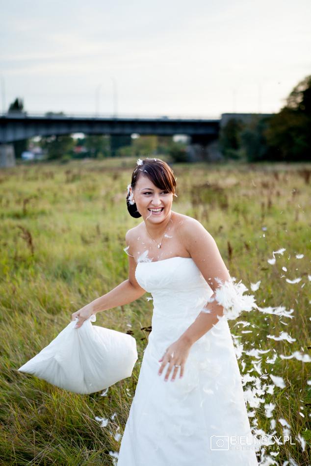 Plener ślubny Malta poznań minimalistyczny